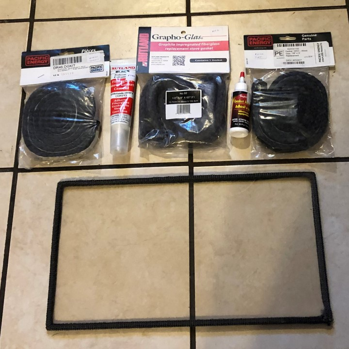 wood stove replacement gasket