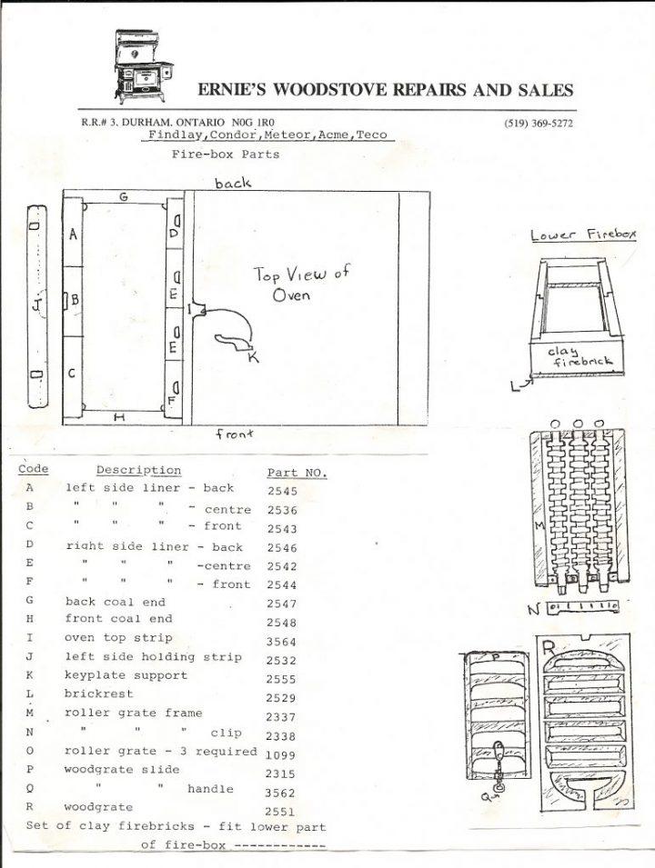 findlay stove parts